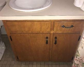 Bathroom vanity, sink, faucet