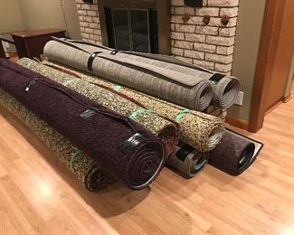 Fantastic room rugs and padding  7x11, 8x12, 9x12