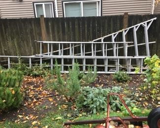 Aluminum Ladders (2 Extension Ladders, Orchard Ladder)