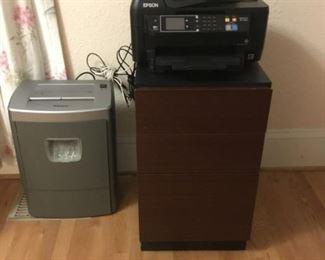 Paper Shredder, Printer, File Cabinet