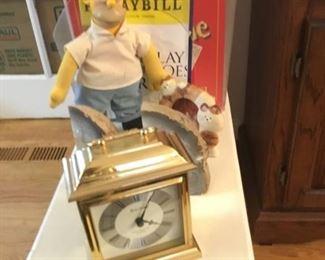 Desk Clock, Geod Book Ends,  Bart Simpson, Playbills
