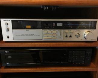 Technics M-224 Stereo Cassette Deck, NEC Compact Disc