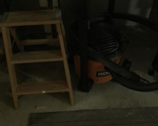 Small Step Ladder, Ridgid Shop Vac