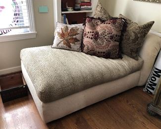 Fluffy and comfy like new chaise lounge,  $125