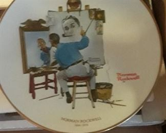 Collection of Norman Rockwell Plates.