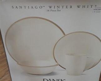 "Santiago ""Winter White"" Dishes. ( 2 )16 pc sets."