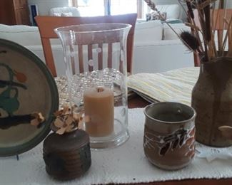 A very nice selection of pottery pieces.