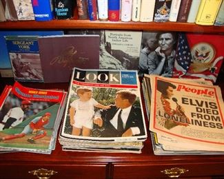 Vintage Life, Look, People, Time, Sports Illustrated Magazines