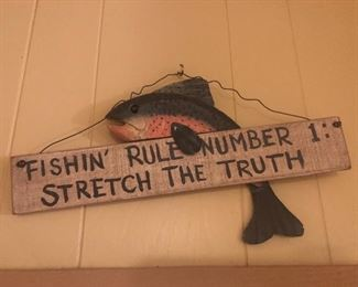 Fish themed wall art
