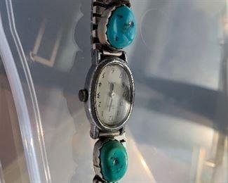 Handmade turquoise watch band