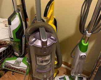 Vacuum cleaners, and floor cleaners