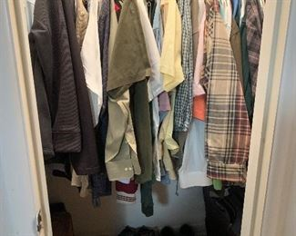 Assortment of men's clothing and shoes