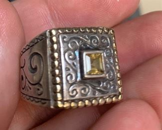 Sterling silver and citrine Brighton ring size 6