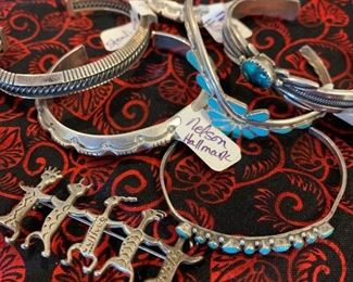 Southwestern hallmarked sterling silver jewelry - Begay, Nelson, and more