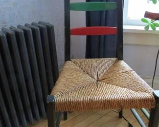 Rush Ladder Back Chair