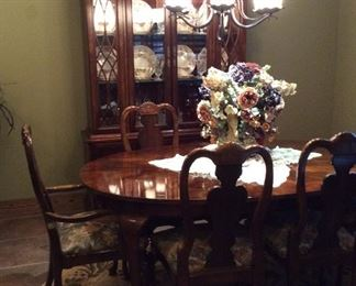 Beautiful dining table and china cabinet