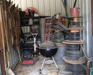 Wiring, garden tools