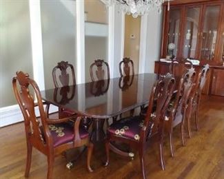 $2, 000 Stickley dining table  $475 each Stickley dining chairs