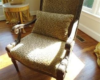 $250 Stanford Furniture chair, Travis & Co, Chenille fabric