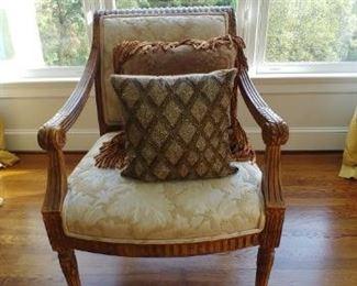 $800 for pair Kreiss Louis arm chairs