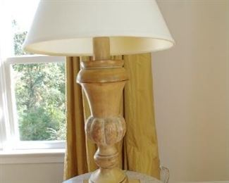 $450 each Kreiss hand carved lamps