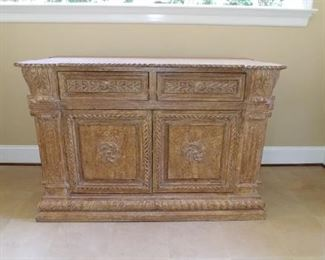 $800 Kreiss neoclassical buffet/server with crackle finish