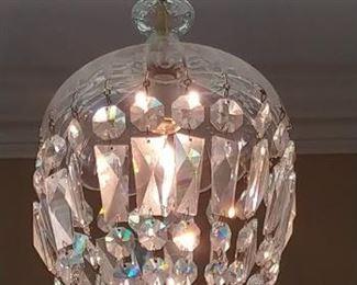 $450 Crystal chandelier