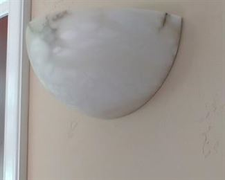 $400 for pair Lightolier Alabaster wall sconce  There is a pair.