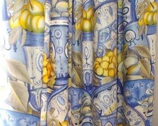$125 each Schumaker polished cotton drapes