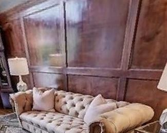 $900 Valentino Nubuck leather sofa  Other items in photo not for sale.