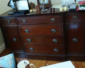 Mahogany buffet, Howard  Miller  clock