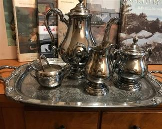 Rogers Remembrance Coffee Set with tray