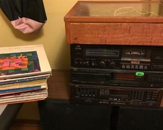 Turntable, vintage albums