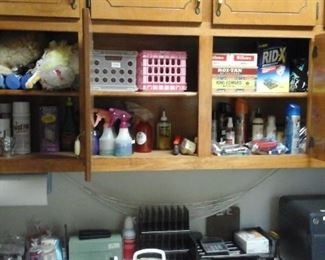 Cleaning supplies and office supplies.