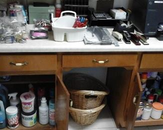 Cleaning supplies and office supplies