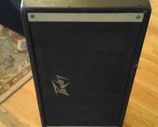 one of two Peavey loudspeakers