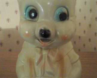 vintage chalk piggy bank