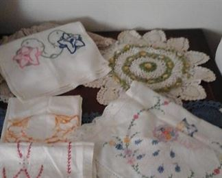 handmade furniture  scarves and doilies