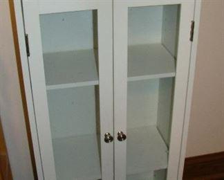 7white glass cabinet