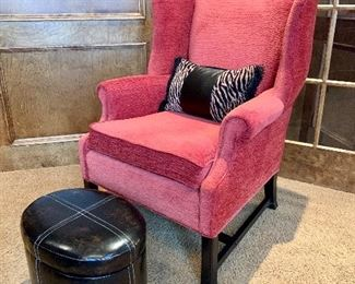 Pair of wingback upholstered chairs