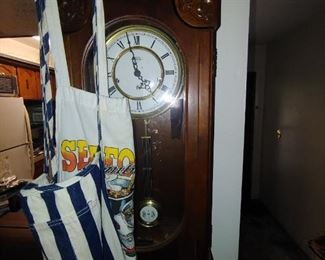 Clock and aprons