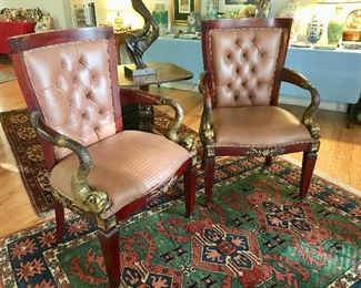 Pair of Upholstered Chairs - great detail
