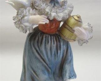 Japanese porcelain girl figure