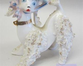 50s porcelain poodle