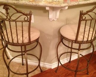 Two of four bar stools