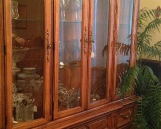 This extra large china cabinet provides great display and storage areas.