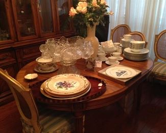 One of several dining tables/ 6 chairs