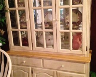 Coordinating china hutch - provides display and storage areas