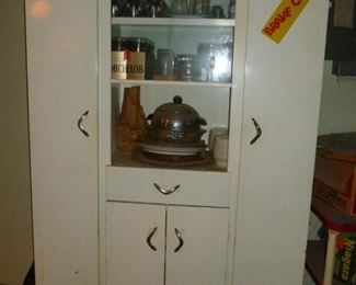 Cool vintage white metal cabinet