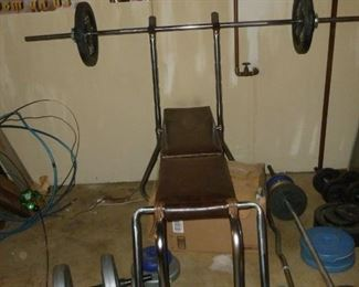 Weight bench & weights
